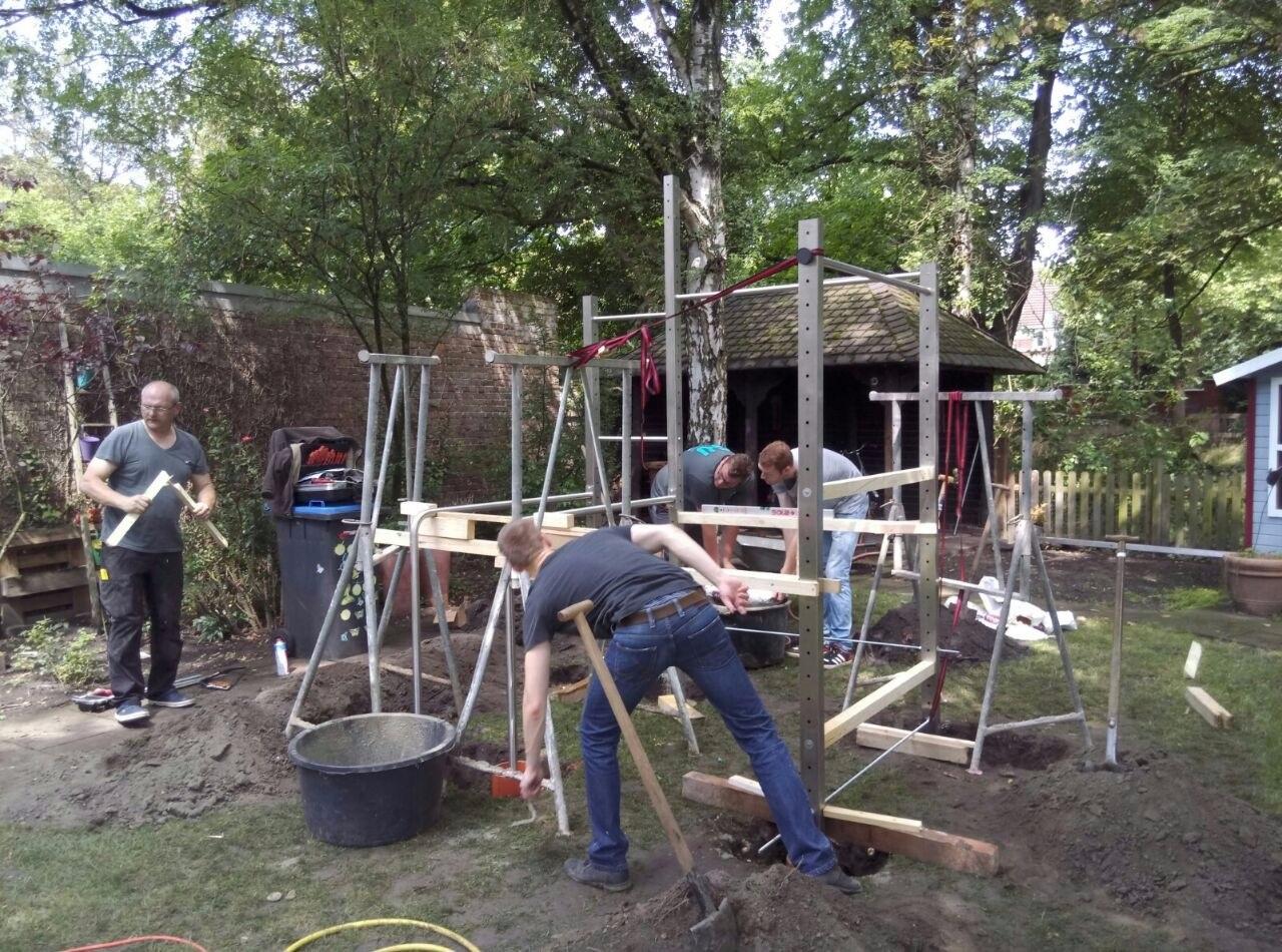Klettergerüst Ohne Fundament : Heringsdorf neuhof kletterturm mit neuem fundament u oz